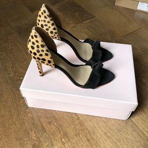 NWT Loeffler Randall Nicola Black Cheetah Sandals